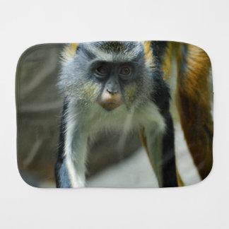 Cute Guenon Wolf's Monkey Burp Cloths