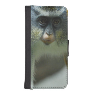 Cute Guenon Wolf's Monkey Phone Wallet