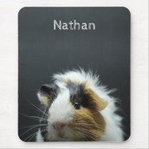 Cute Guinea Pig Chalkboard Personalised Mouse Pad