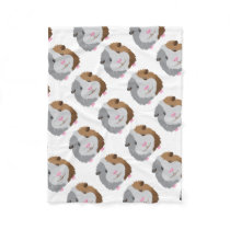 cute guinea pig face fleece blanket