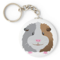cute guinea pig face keychain