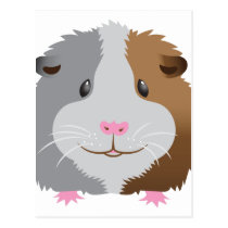 cute guinea pig face postcard