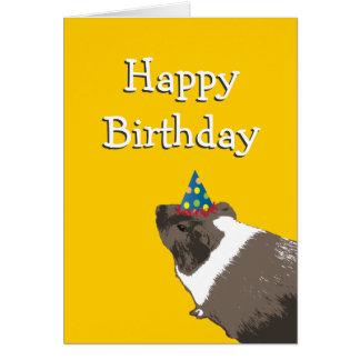 Cute Guinea Pig Happy Birthday Card