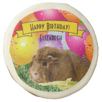 Cute Guinea Pig Party Balloons Children Birthday Sugar Cookie