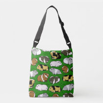 Cute guinea pig pattern crossbody bag