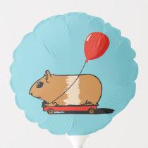 Cute Guinea Pig Riding a Cart Balloon