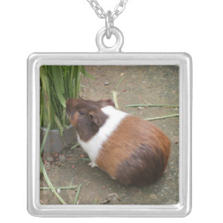 Cute Guinea Pig Silver Plated Necklace