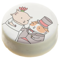 Cute Guinea-pig Wedding Couple Chocolate Dipped Oreo