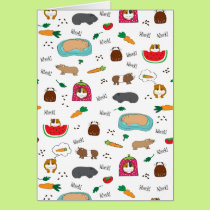 Cute Guinea Pigs Card