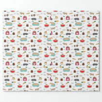 Cute Guinea Pigs Cavy Pets Wrapping Paper