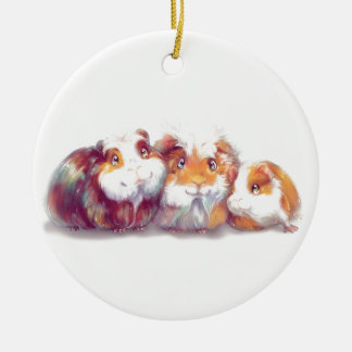 Cute Guinea Pigs Ceramic Ornament