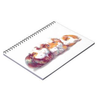 Cute Guinea Pigs Spiral Notebook