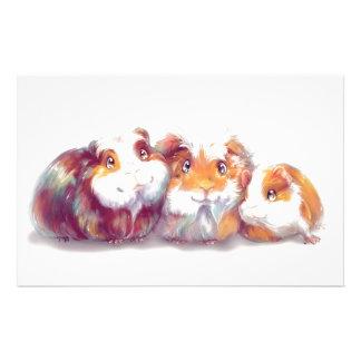 Cute Guinea Pigs Stationery