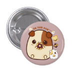 Cute guinea pigs with kawaii food pinback button