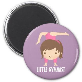 Cute Gymnast Girl Gymnastics Pose Magnet