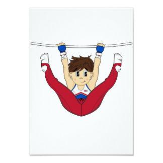 Cute Gymnast on Bar RSVP Card