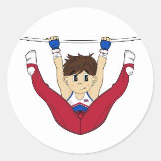 Cute Gymnast on Bar Sticker