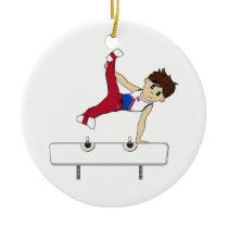 Cute Gymnast on Horse Ornament
