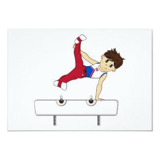 Cute Gymnast on Horse RSVP Card