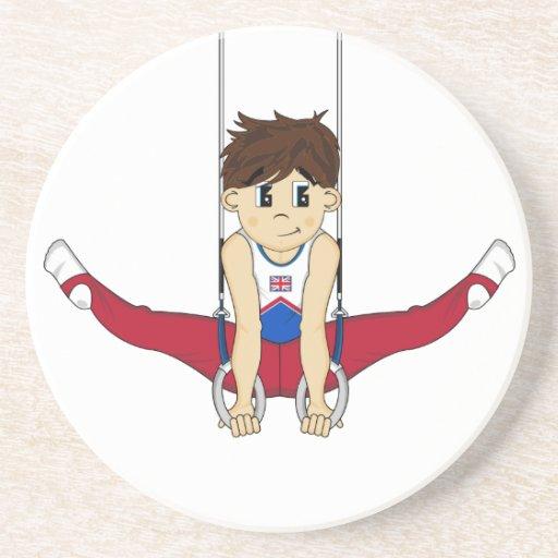 Cute Gymnast on Rings Coaster