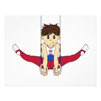 Cute Gymnast on Rings Flyer