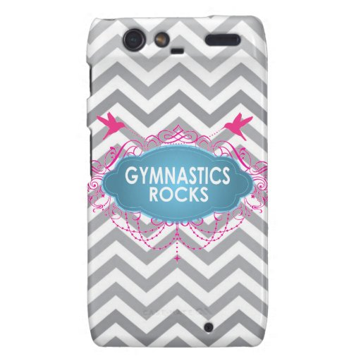 Cute Gymnastic Rocks Pink and Blue Gifts Motorola Droid RAZR Covers