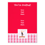 Cute Gymnastics Balance Beam 5x7 Paper Invitation Card