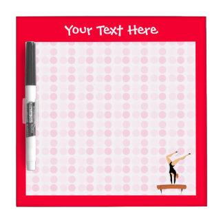 Cute Gymnastics Balance Beam Dry Erase Board
