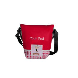 Cute Gymnastics Balance Beam Messenger Bags