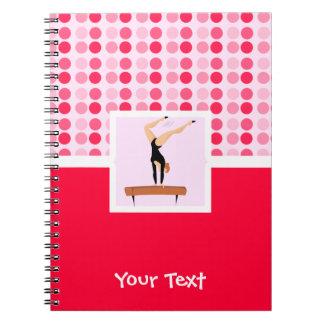 Cute Gymnastics Balance Beam Spiral Note Book