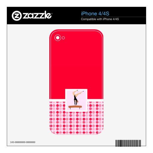 Cute Gymnastics Balance Beam Skin For The iPhone 4