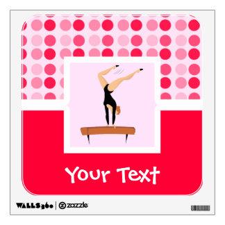 Cute Gymnastics Balance Beam Wall Sticker