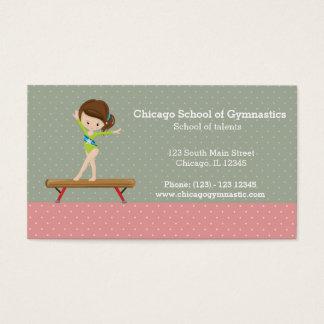 Cute gymnastics girl business card