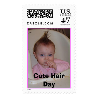 Cute Hair Day Postage