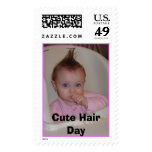 Cute Hair Day Postage Stamp