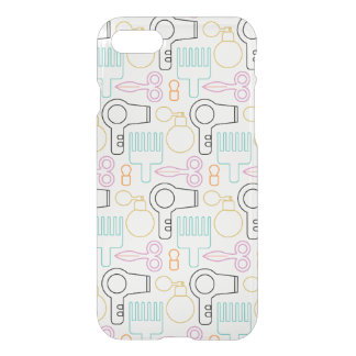 Cute Hairdresser Stylist iPhone 7 Clear iPhone 8/7 Case