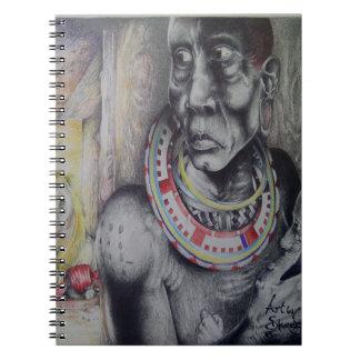 Cute Hakuna Matata with Lions and Masai Notebook