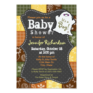 Cute Halloween, Autumn, Baby Shower Invitation