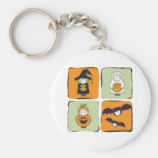 Cute Halloween Basic Round Button Keychain