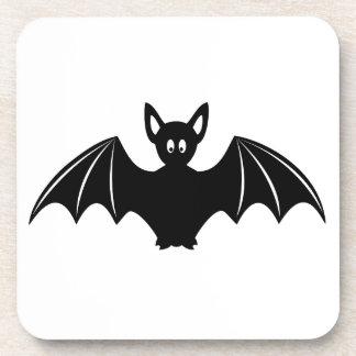 Cute halloween bat cartoon coaster