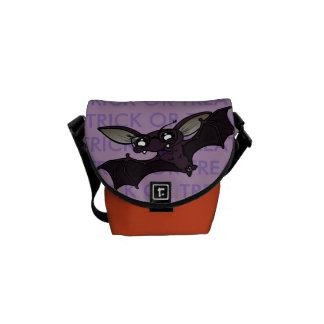 CUTE HALLOWEEN BAT TRICK OR TREAT MESSENGER BAG