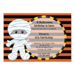 Cute halloween birthday personalized invites