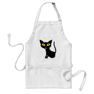 Cute, Halloween Black Cat Adult Apron
