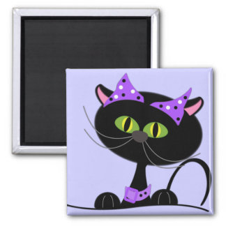 Cute Halloween Black Cat Magnet