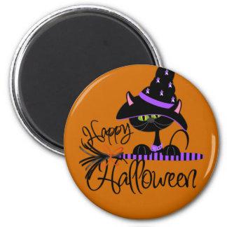 Cute Halloween Black Cat Magnet