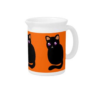 Cute Halloween Black Cat Pitchers