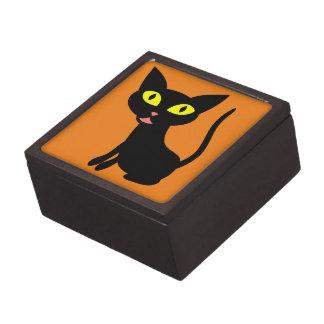 Cute, Halloween Black Cat Premium Keepsake Box