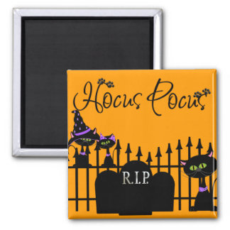 Cute Halloween Black Cats Magnet