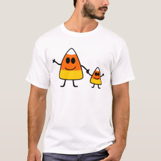 Cute Halloween Candy Corn Family T-Shirt