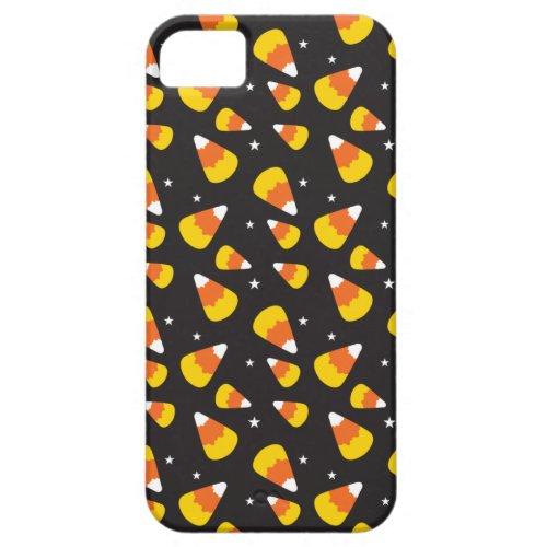Cute Halloween candy corn on black pattern iPhone SE55s Case